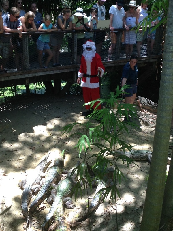 Sants Claud with Crocodiles in Port Douglas